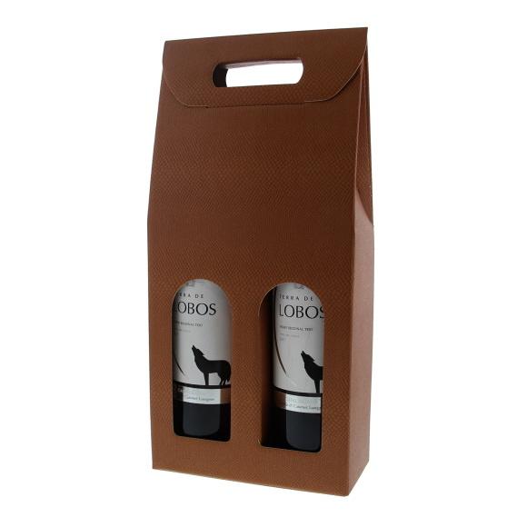Box for  2 bottles - terra cotta - 10 pieces