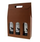 Doos voor  3 flessen - Terra cotta  - 10 stuks