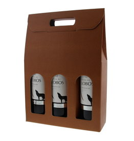 Box for  3 bottles  - terra cotta