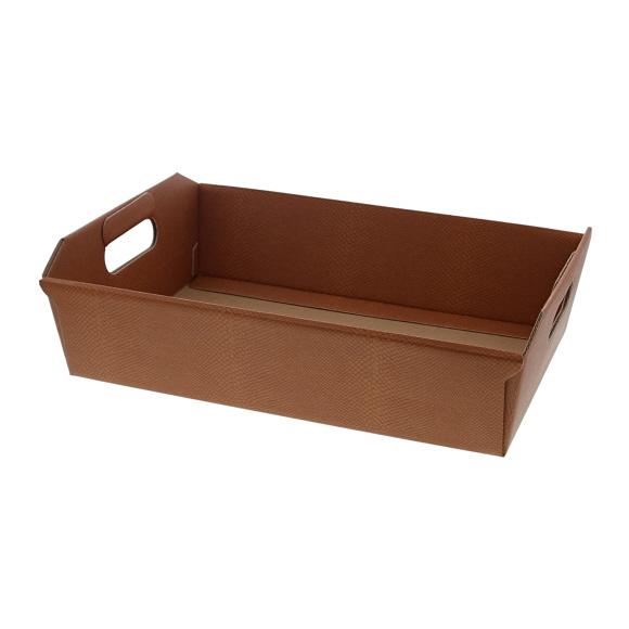 Korb Dessert - Terrakotta -  310*220*90 mm - 10 Stück