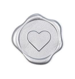 Heart wax seal - Zilver