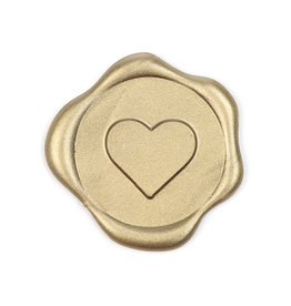 Heart wax seal - gold