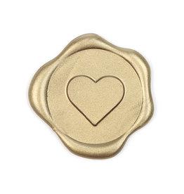 Heart wax seal - Goud