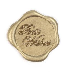 Best Wishes wax seal - Goud