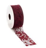 Florence ribbon - Bordeaux
