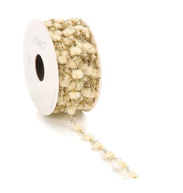 Sprinkle Dots wired cord - cream