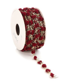 Sprinkle Dots wired cord - Bordeaux