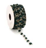 Sprinkle Dots lint met draad - Dark Green