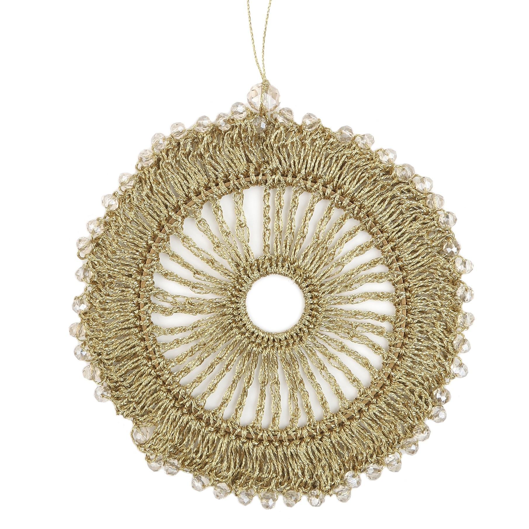 Bellizzi  deco hanger Handmade - Gold - Ø 9cm  - 6 stuks