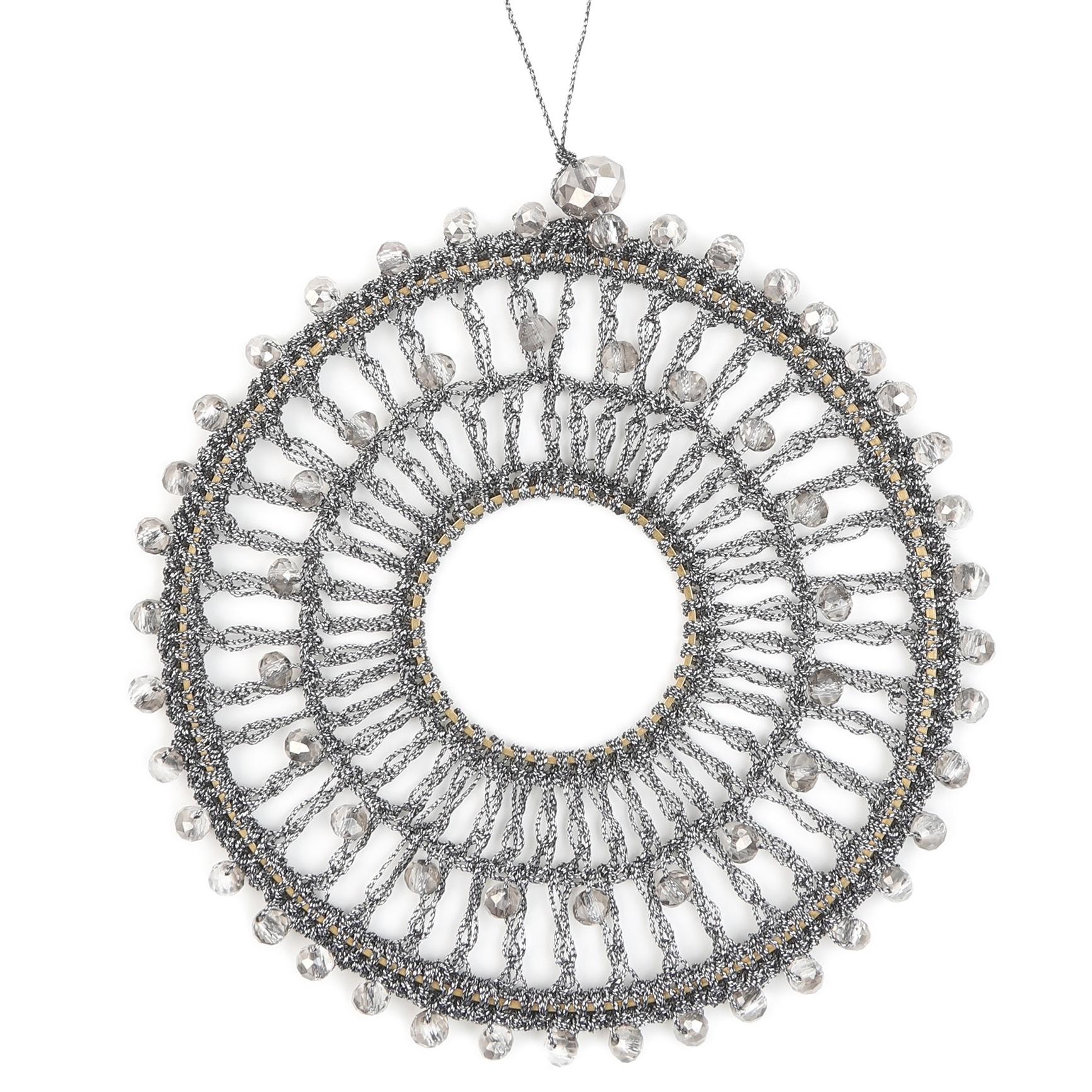 Bellizzi  deco hanger Handmade - Antracite - Ø 9cm  - 6 stuks