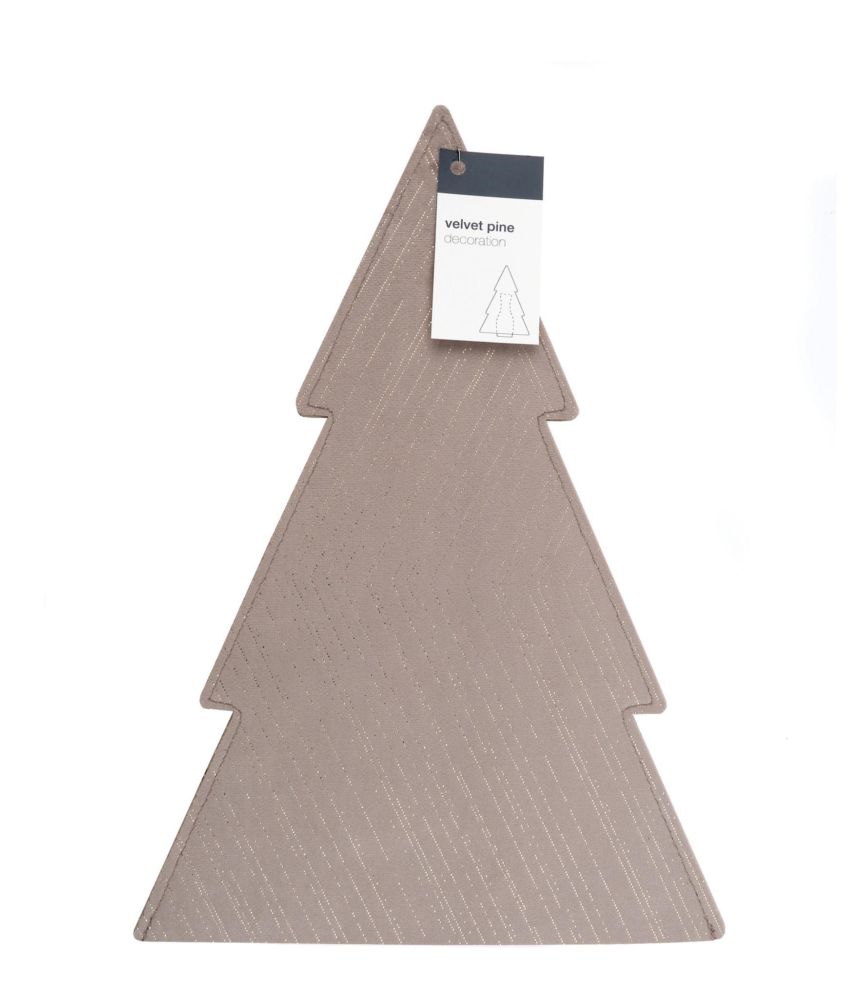 Velvet Pine Sleeve - Taupe -  210*300 mm - 6 Stück