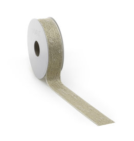 Bouclé Lurex ribbon - white gold