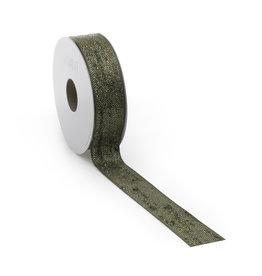 Bouclé Lurex ribbon - green gold