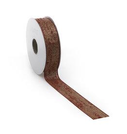 Bouclé Lurex ribbon - bordeaux