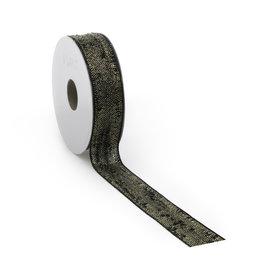 Bouclé Lurex ribbon - black gold