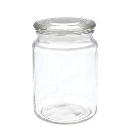 Glass storage jar with  lid  700 ml
