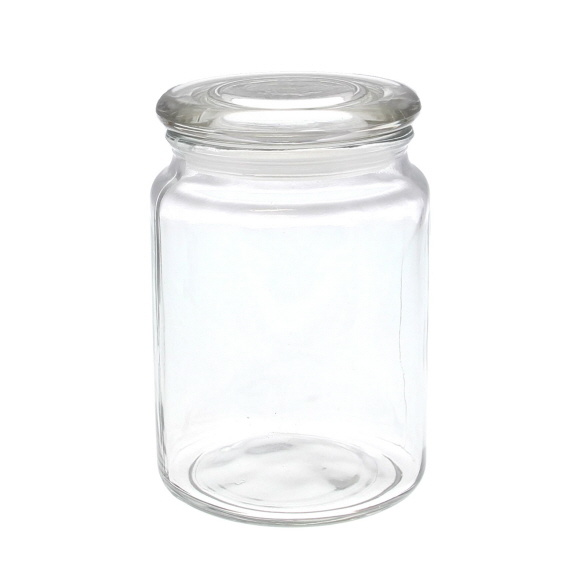Glass jar with lid - 100*100*145mm - 6 pieces