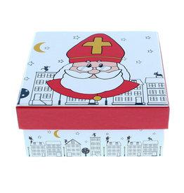 "Saint Nicholas ""City"" square Box with lid"