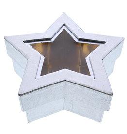 Ster doos met venster zilver