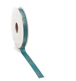 Frohes Fest ribbon - sea blue