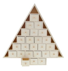 Houten boom advent kalender