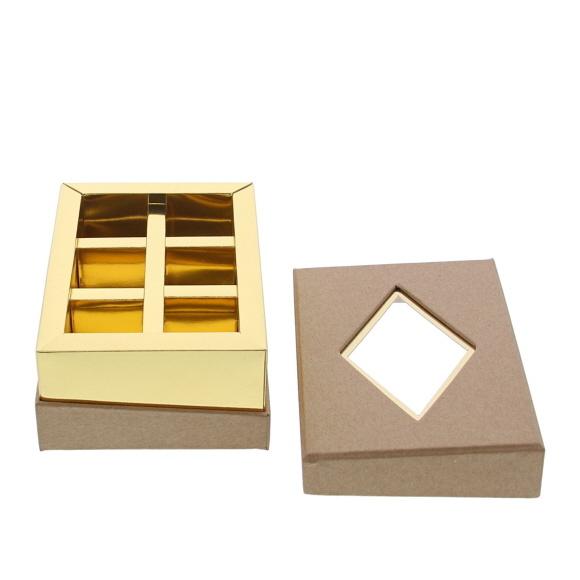 Venster doos  Kraft - 125 *95*55 mm - 20 stuks