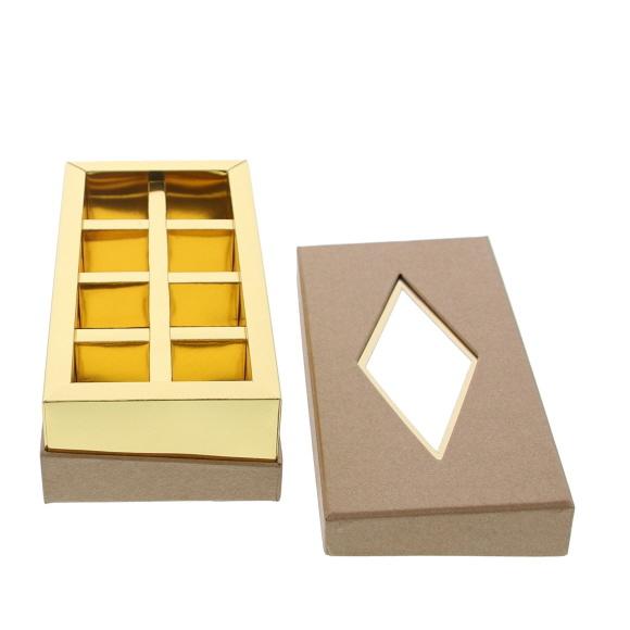 Caja de ventana transparente  kraft - 190 *95*55 mm - 20 unidades