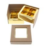 Kare Fenster Würfelbox Kraft 2 Etagen - 90 *90*75 mm - 10 Stück