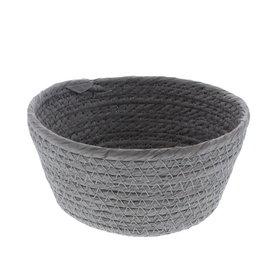 Ronde papier touw mand - Grijs