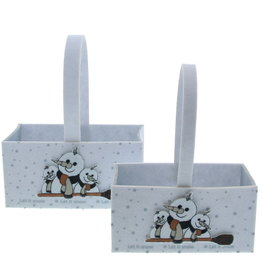 "Snowman ""Broomy"" rectangular basket"