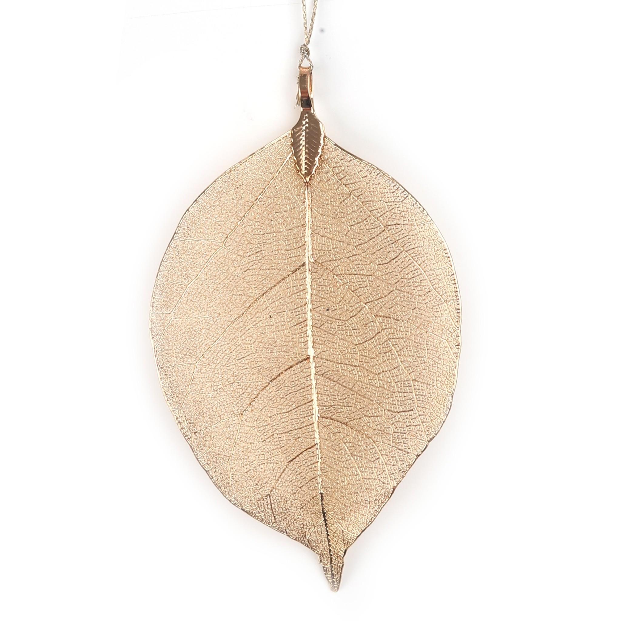 Leava  deco hanger Handmade - Gold - 17*5 cm   - 6 stuks