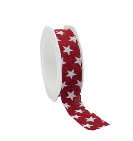 Cotton Stars ribbon -  Medium Red