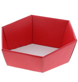 Bandeja hexagonal de cartón Lino rosso - rojo - 10 unidades