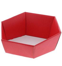 Bandeja hexagonal de cartón Lino rosso