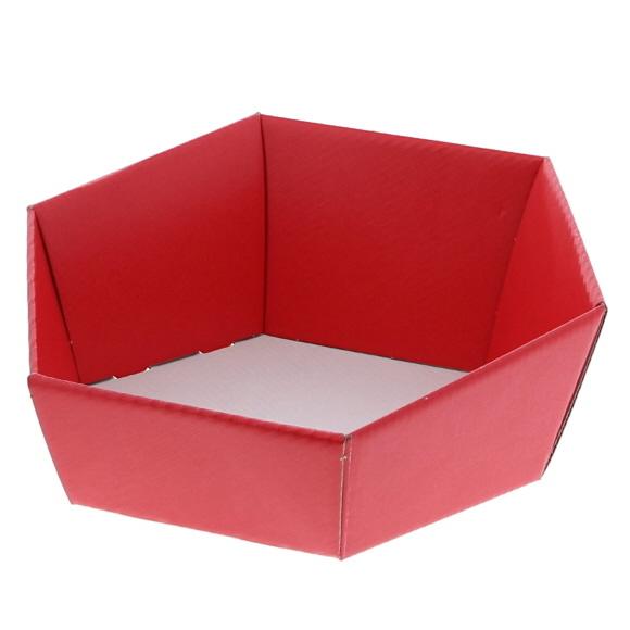 Sechseckige Schale Lino rosso - Rot - 10 Stück