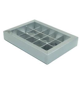 Caja argenta con interior por 15 bombones