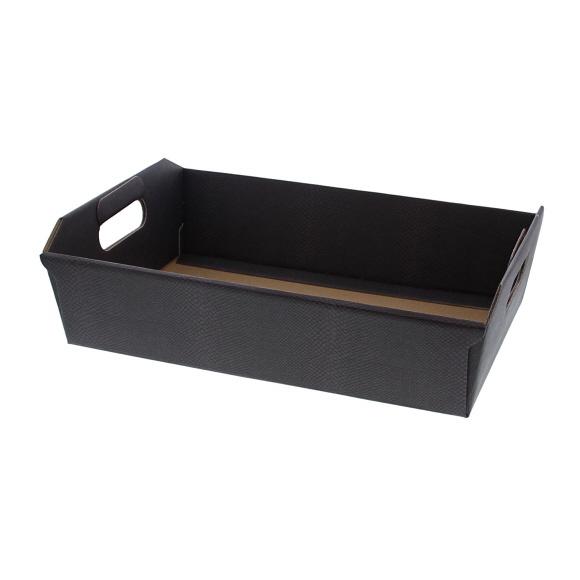 "Basket ""Skin coffee"" - dark grey - 10 pieces"