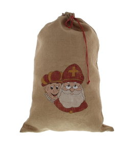 "Jute bag ""City"" Sint with red cord"
