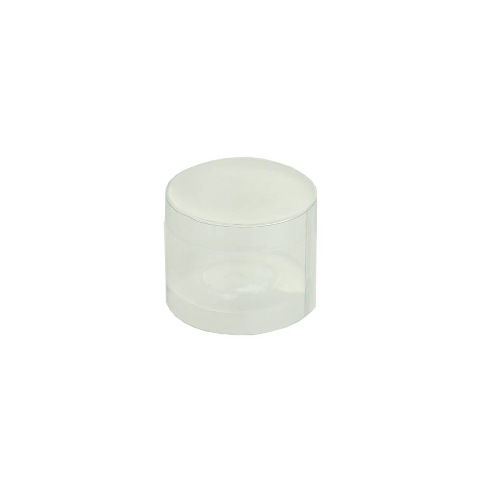 Transparent tube box with lid - 65mm - 230mm
