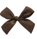Ready to go ribbon with sticker Chocolate Brown - 7,5*7,5cm - 100 pieces