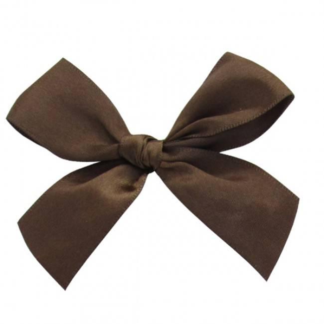 Satin Band mit Klebeband fertig Schokoladenbraun - 7,5*7,5cm - 100 Stück