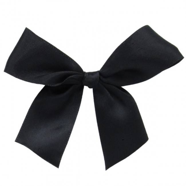 Ready to go ribbon with sticker black- 7,5*7,5cm - 100  pieces