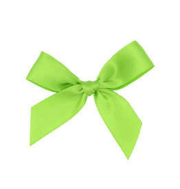 Ready to go ribbon with sticker Lime - 6*6cm - 200 pieces