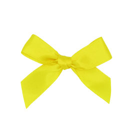 Ready to go ribbon with sticker yellow - 6*6cm - 200 pieces