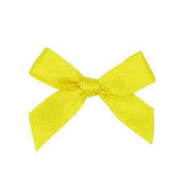 Satijn strikje met plakkertje Yellow - 6*6cm - 200 stuks