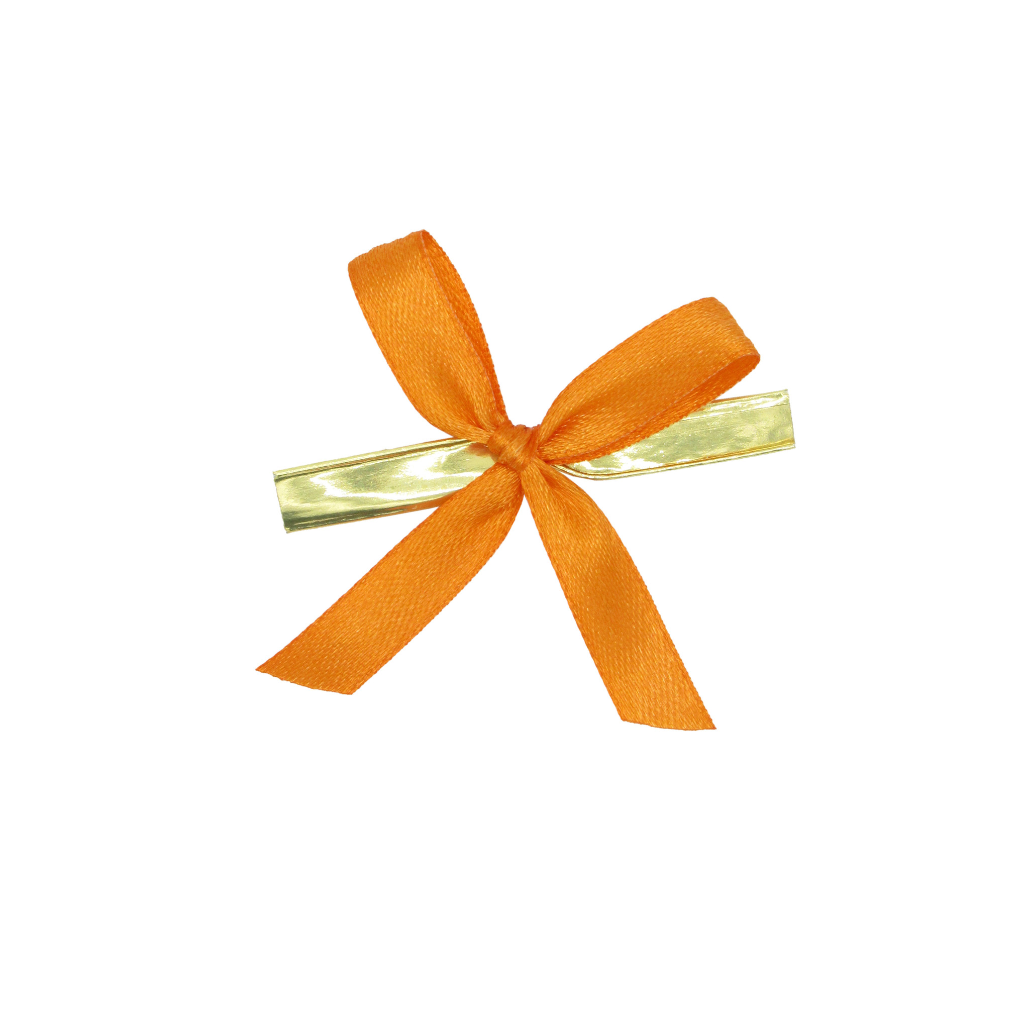Satin Band mit Clip fertig - Orange