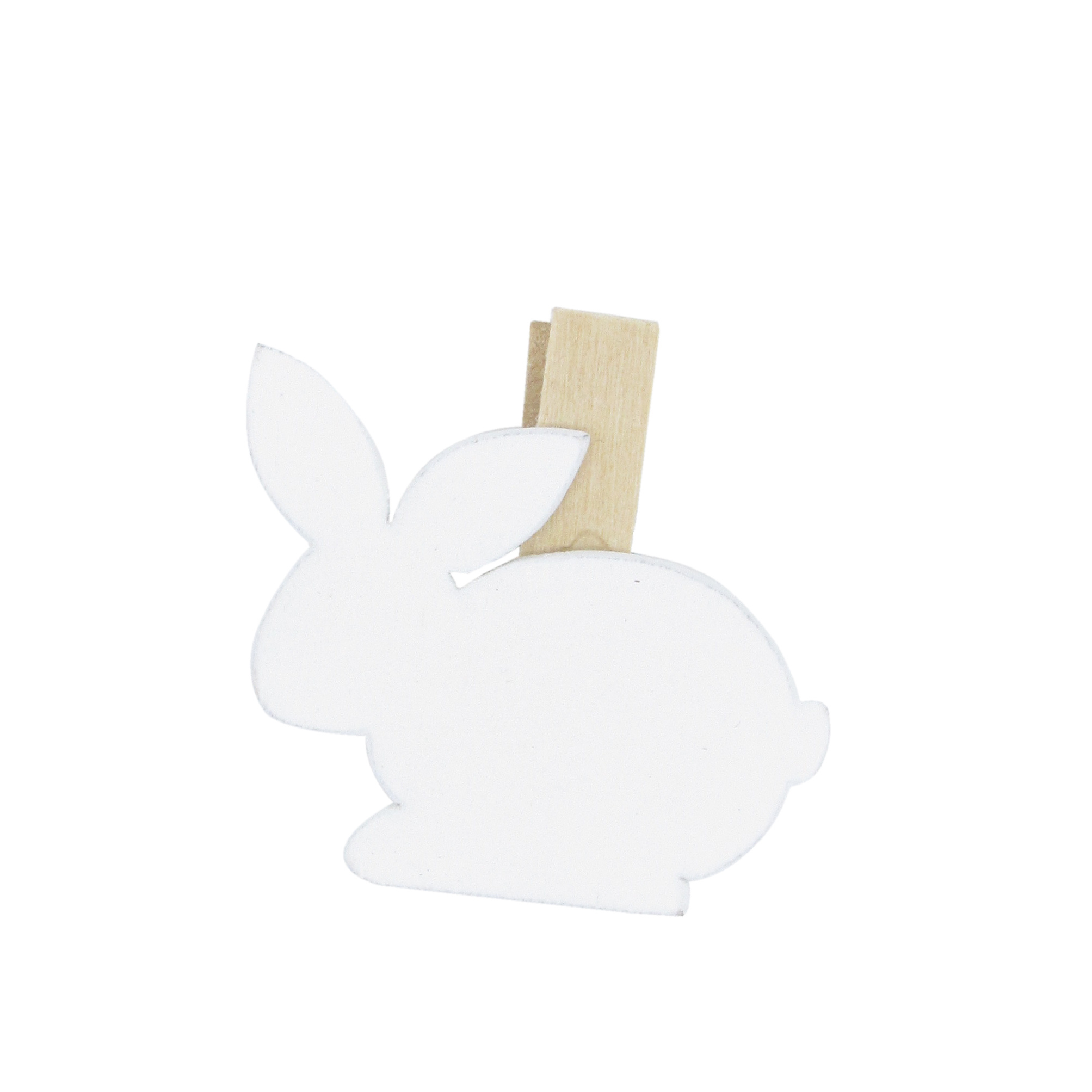 """""""Easter Bunny"""" clip - white - 32*40mm - 36 pieces"""