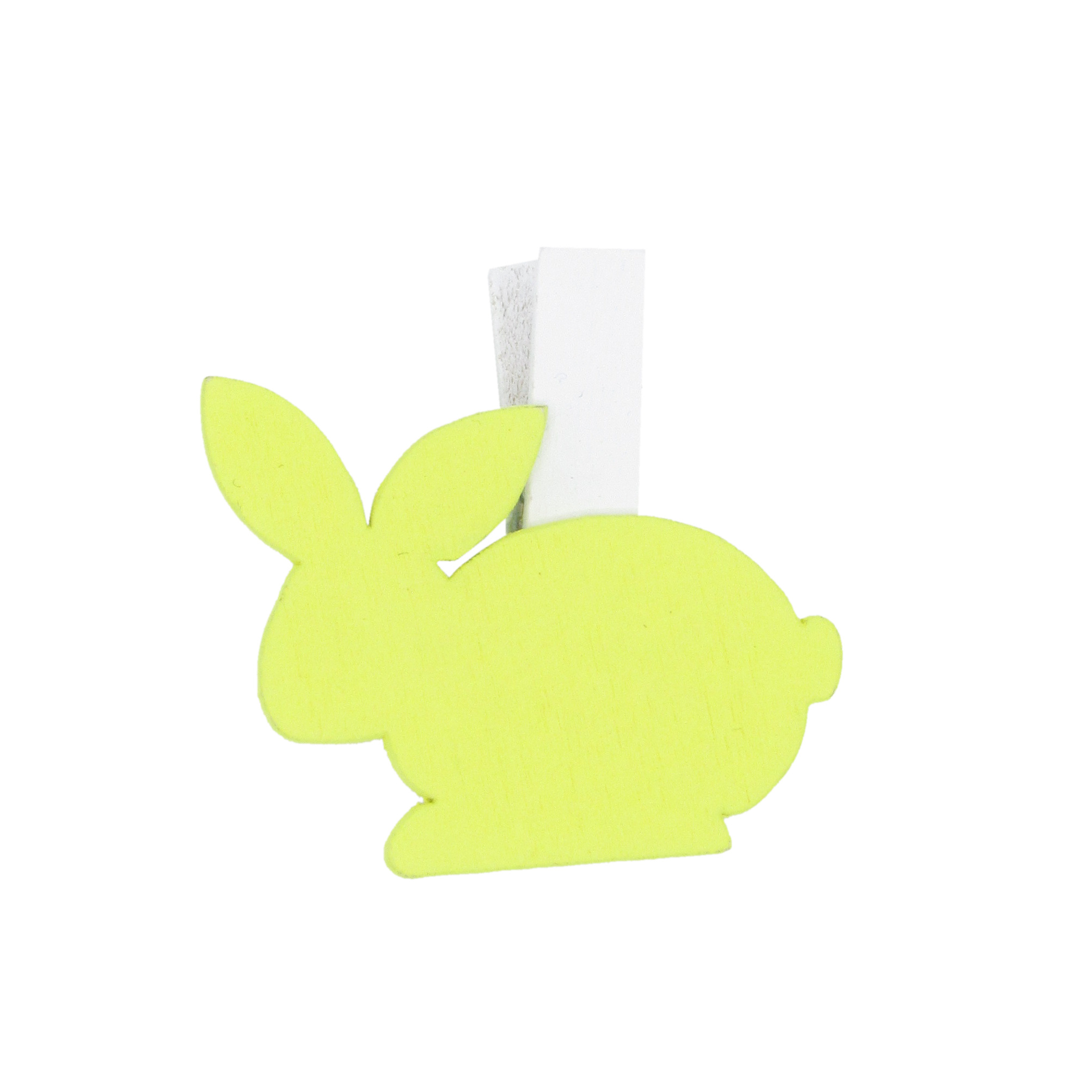 """Easter Bunny"" clip - light yellow - 32*40mm - 36 pieces"