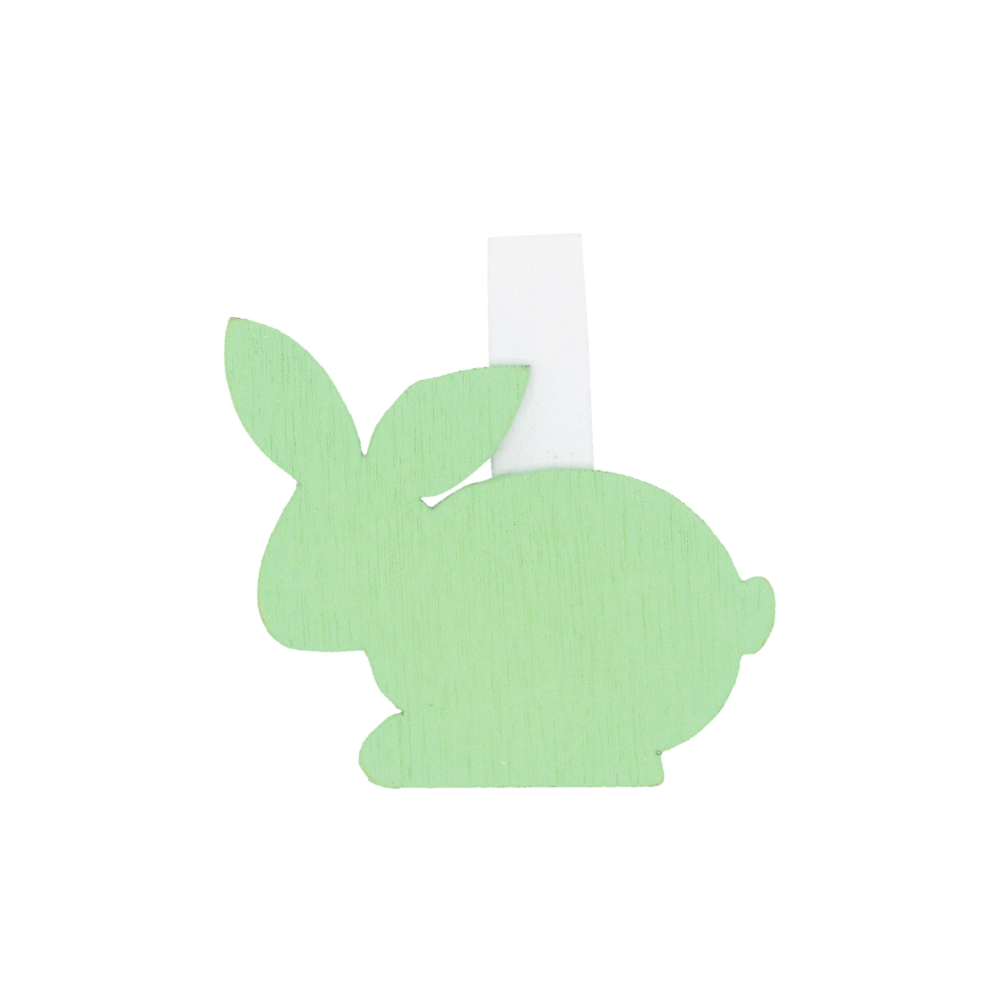 """Easter Bunny"" clip - mint green - 32*40mm - 36 pieces"