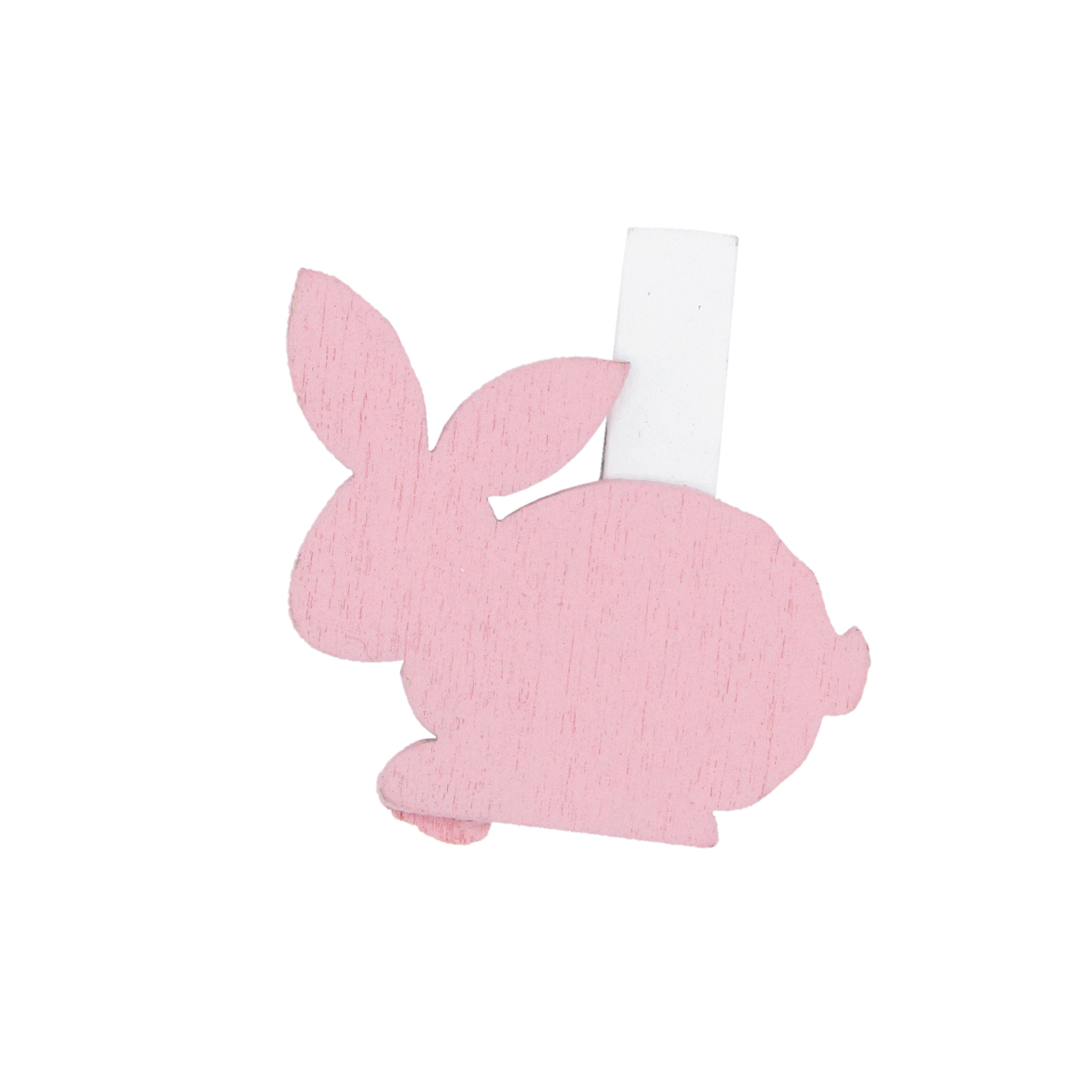 """""""Easter Bunny"""" clip - light pink - 32*40mm - 36 pieces"""